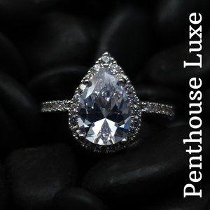 NEW!! Sterling Silver 925 Teardrop Pear Ring